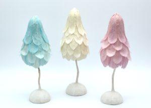 和紙の羽根ランプ