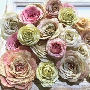 Japanese paper rose 和紙の薔薇