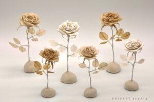 砂漠の和紙の薔薇