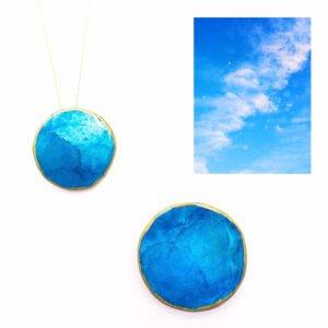 青空ブローチ&ネックレス